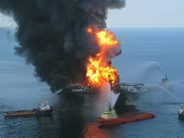 Blog - Deep Sea Oil Rig on Fire