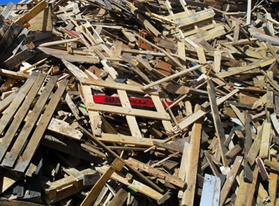 discarded wood pallets