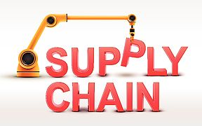 Blog - Robotic Arm Lifting Supply Chain Word