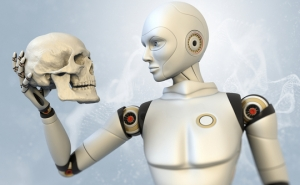 Blog - Robot with Skull
